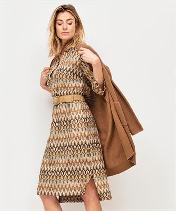 Ana Alcazar 'Missoni' jurk met lurex