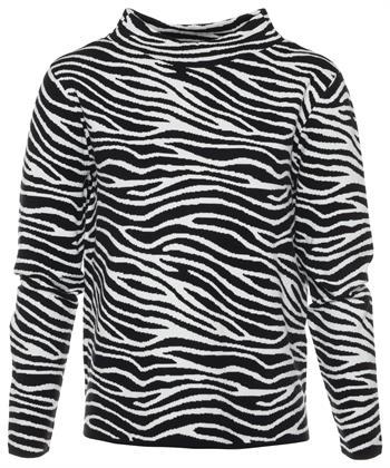 BeOne Pullover mit Zebraprint