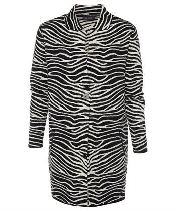 BeOne Strickjacke mit Zebraprint
