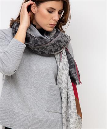 Codello Schal grau mit Farbe