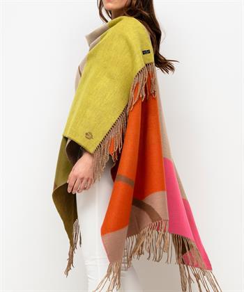 Fraas sjaal omslagdoek vlakken kleur