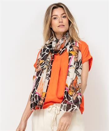 Marc Cain bloemenprint sjaal