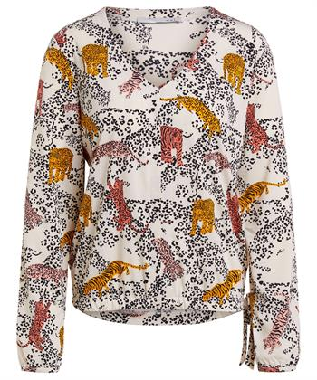 Oui Bluse Leopardenmuster
