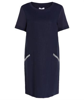 Oui linnen jurk strass