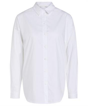 Oui poplin blouse