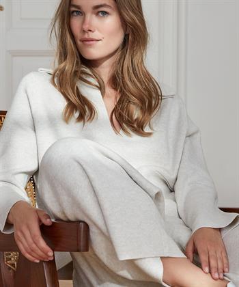 Oui Pullover V-Ausschnitt mit Kragen