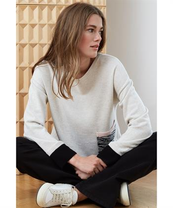 Oui Sweater Pattentasche