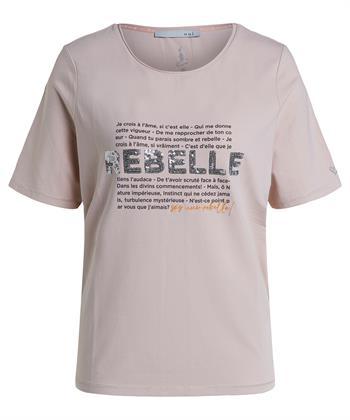 Oui T-Shirt mit Textdruck