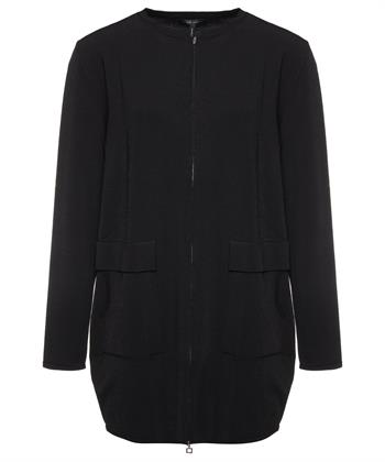 Sarah Pacini halflang crepe vest
