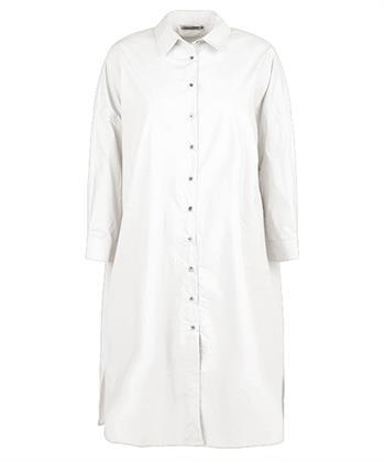 Shirt dress crispy poplin