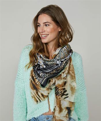 Summum sjaal met print