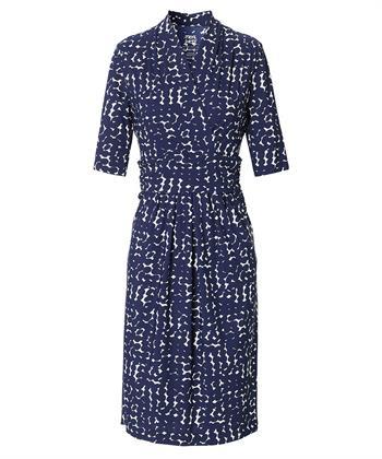 TRVL DRSS gedrapeerde jurk dots