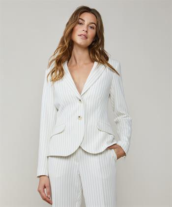 Witte Summum blazer met pinstripe